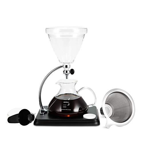 Yama Glass Pour Over Coffee Maker, BLACK