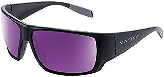 Sightcaster Sunglass, Matte Black, Violet Reflex