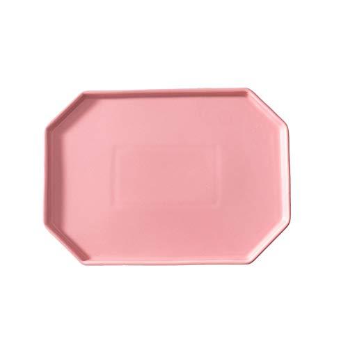 DHCZZRS774 Platos de Comida Nordic cerámica Creativa Steak Plate, Western Placa Placa de Cena, hogar Bandeja del Desayuno Placa, Vajilla Multifuncional Platos de Cena pequeños (Color : A)