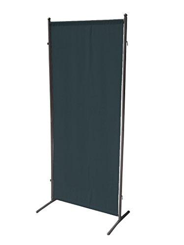 gartenmoebel-einkauf Sichtschutz Trennwand 80x190cm, Metall + Textilbespannung anthrazit, verlängerbar