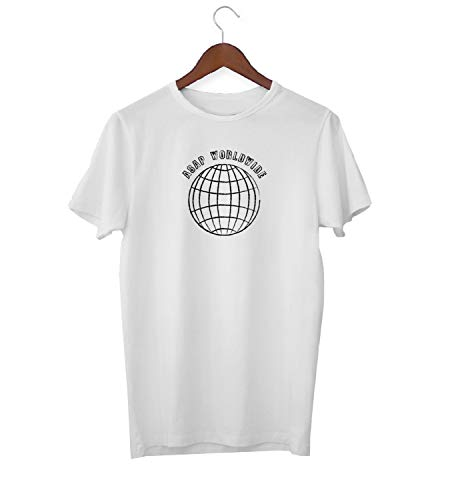 ASAP Worldwide Globe Earth Travel_KK018979 Shirt T-Shirt Tshirt for Men Für Männer Herren Gift for Him Present Birthday Christmas - Men's - Medium - White