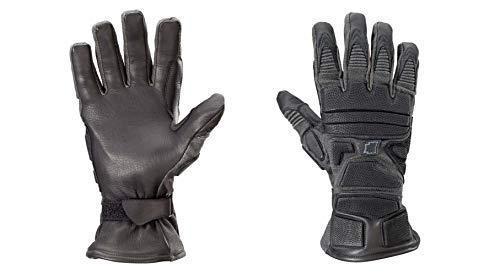 Kinetixx X-Cobra Taktische Handschuhe (Größe 9, schnittfest, feuerfest, wasserfest, Leder, 1 Paar) schwarz