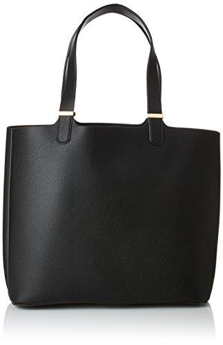 Pieces Pckopa Shopper Noos, Sacs portés épaule femme, Noir (Black), 17x27x30 cm (B x H T)