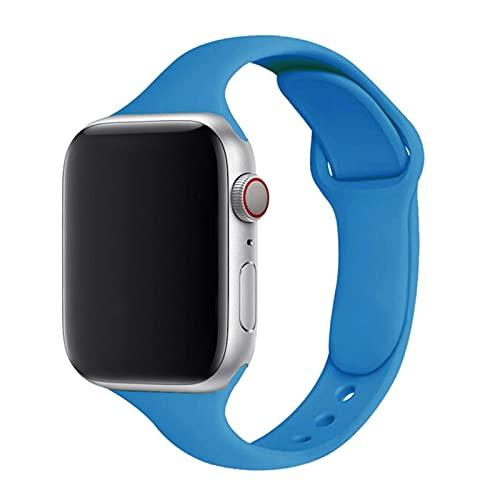 Correa delgada para correa de reloj de Apple 40 mm 44 mm 38 mm 4 mm 44 mm Correa de reloj de silicona deportiva suave pulsera iWatch series 3 4 5 6 se band