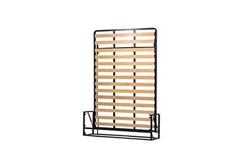 Wallbedking Mécanismes de Lit Mural/Lit Escamotable/Lit Rabattable Vertical 140cm x 200cm Classic