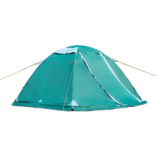 ZHANGCHUNLI Tienda de Campaña Tiendas Portable Carpa para Camping con Falda De Nieve 4 Temporada Espesar Impermeable A Prueba De Viento Tienda Familiar, 2 Colores (Color : Green)