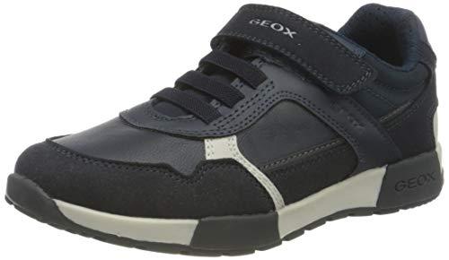Geox J ALFIER Boy A Sneaker, Blau (Navy/Dk Grey), 32 EU