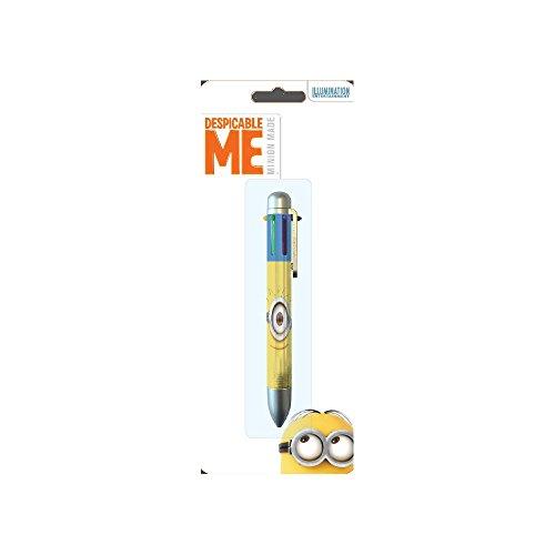 Minion–1bolígrafo 6colores Modelo Gros ojos