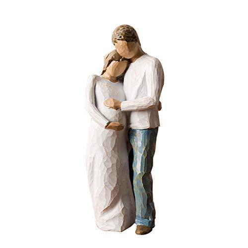 certylu Decoración del hogar, Regalos de estatuilla de Escultura Pintados a Mano de la Estatua del Amor para la decoración casera de la Boda