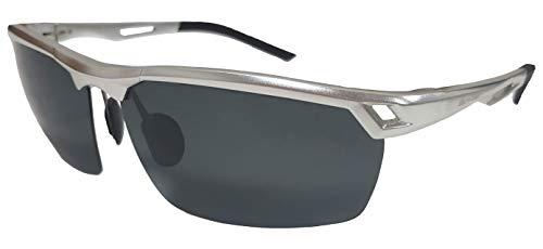 Macro Giant Sport zonnebril, gepolariseerd, 100% UV-bescherming, UV 400 met etui, Al-Mg, Mannen, Reizen, Mode, voor Fietsvissen, Golf