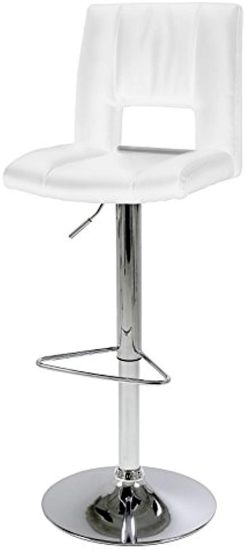 AC Design Furniture Barhocker Evan, B  41,5 T  52 H  115 cm, PU, Weiss