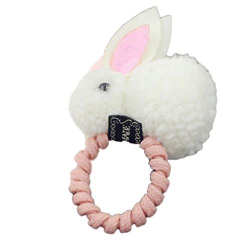strimusimak - Cinta para el pelo, diseño de conejo de Pascua, color blanco