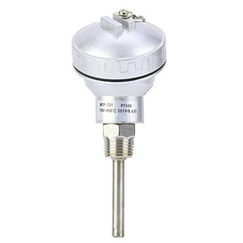 """Sonde de température RTD, sonde de sonde de température RTD PT100 Tête de borne de thermocouple à filetage 1/2""""NPT(50mm)"""
