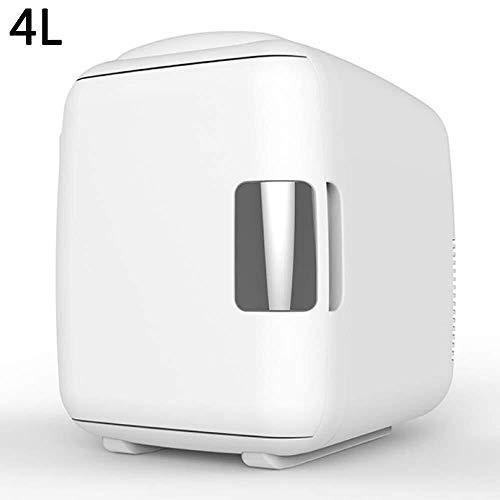 Kievy Mini-koelkast, 12 V/220-240 V (4 l/9 l/12 l), autokoelbox, auto koelkast voor auto en thuis 4L wit