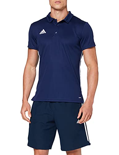 adidas CORE18 Camiseta Polo, Hombre, Dark Blue/White, 2XL