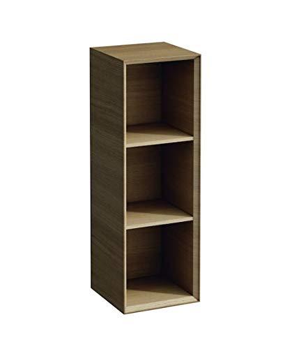 Lopende Boutique Halfhoge kast, open, 900x300x300, Kleur: donkere eik - H4091701502511