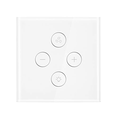 WIFI Ventilator Lichtschalter, FORNORM Smart Deckenventilator Licht Ventilator Wandschalter SmartLife APP Fernbedienung, Kompatibel mit Alexa/Google Home/IFTTT, 2,4 GHz Timer für iOS Android