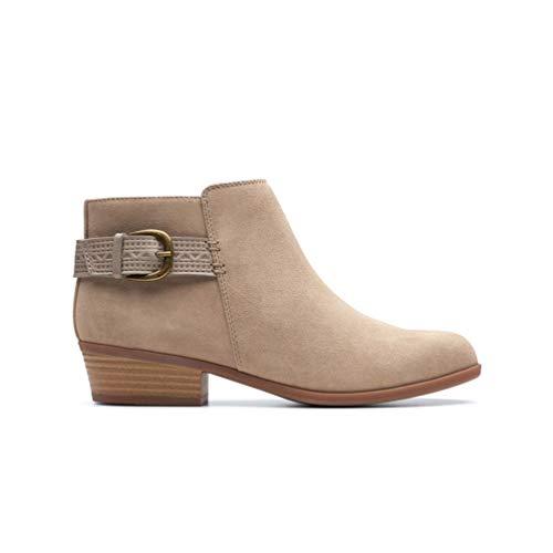 Clarks Women's Addiy Kara Ankle Boot, Sand Suede, 11