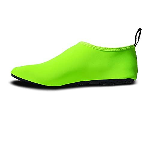 QAOSHOP Zapatos de agua unisex para niños, zapatos de natación descalzos antideslizantes de secado rápido para playa, piscina, surf, E, 24
