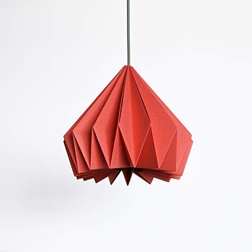 Brownfolds Pantalla de papel rojo para lámpara Origami, paquete doble de vainilla