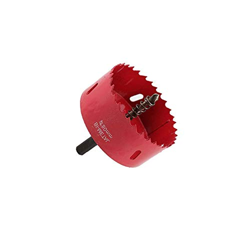 60-100mm Hole Saw with Hex Shank Drill Bit Adapter, Heavy Duty Hole Cutter Drill Bit for Wood and Metal, Hole Saws Bit Tooth Cutting(80mm)