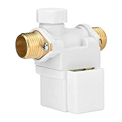Ruspela AC220V G1/ 2 Solar Energy Electric Solenoid Valve for Water N/C Normally Closed White
