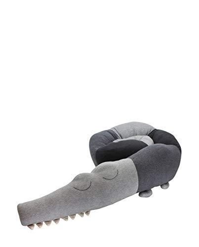 Sebra - Kuscheltier - Bettschlange - gestrickt - 190 cm lang - Grau - Sleepy Croc