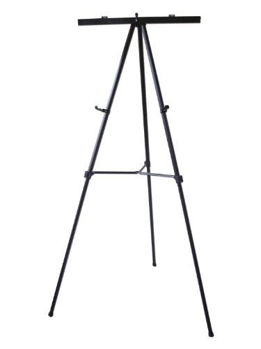 Lightweight Aluminum Flip-Chart Presentation Easel, 70 Inches, Black