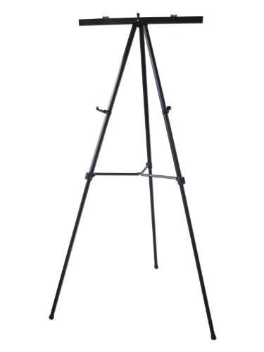 Lightweight Aluminum Flip-Chart Presentation Easel, 70 Inches, Black