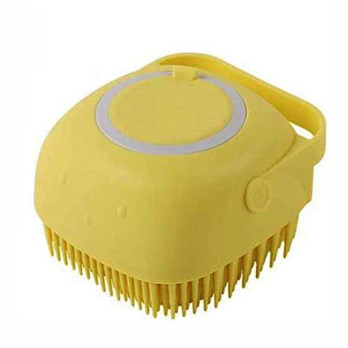 Preisvergleich Produktbild SGLMYD Dusche Silikon-Pinsel mit Lagerung sanft Siliziumbad Körperbürste Kinder Dusche Reinigung Scrubber Haustiere (Color : Yellow)