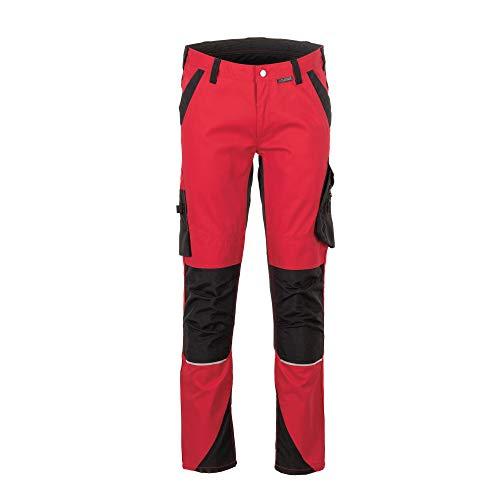 Planam 6407050 Norit Herren Bundhose, Rot/Schwarz, Größe 50
