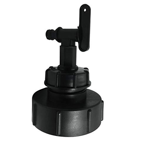 B Baosity Schwarz Wasserhahn Auslaufhahn Adapter für IBC Tank - Gewindedurchmesser 100 mm