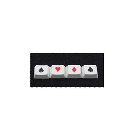 YEZIO Keycaps für Keyboards 4pcs / Set PBT Sublimation Kappenschlüssel mechanische Tastatur Poker keycap for Ctrl Win ALT-Taste FN 1,25X Profil frei Führung der Kappe Abzieher Universal