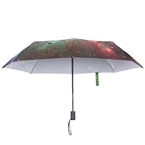 Faltschirm Automatisches Öffnen/Schließen -Raum Winddicht und wasserdicht mit Sonnenschutz Regenschirm White OneSize