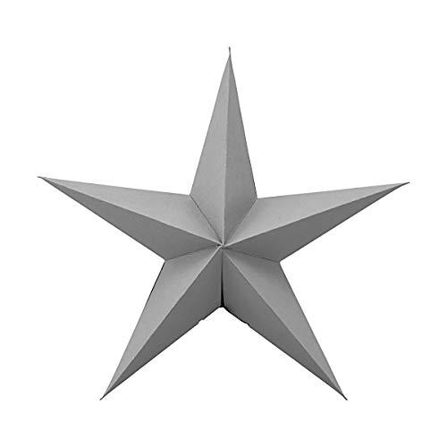 House Doctor Star Papierstern zum Aufhängen Grau 2er Set 25 cm