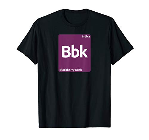 Periodensystem der Brombeer-Kush-Indica-Cannabis-Stämme T-Shirt