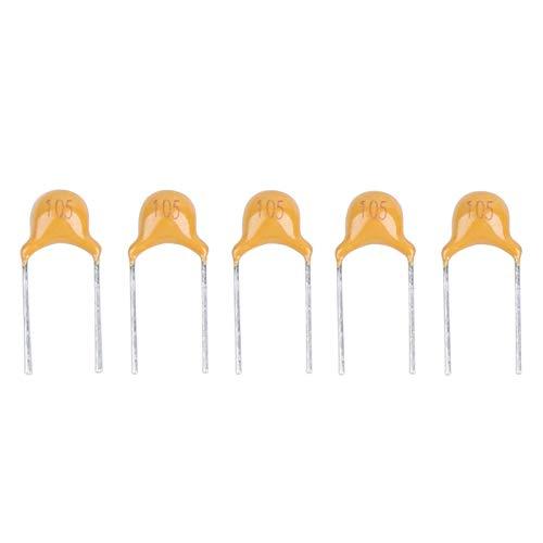 Kit surtido de condensadores de chip de cerámica monolíticos de 1000 piezas, conjunto de condensadores de cerámica monolíticos en línea, paso de pin de 1UF, 5,08 MM, desviación de 50 V CC, 10%