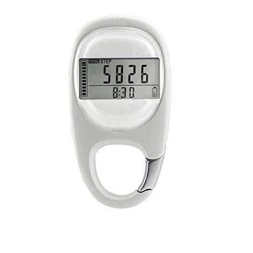 YFAX, podómetro de inducción 3D, Contador de Pasos preciso, mosquetón, Llavero para Mantener la Distancia Entre Pasos, calorías, podómetro electrónico para Correr Fitness