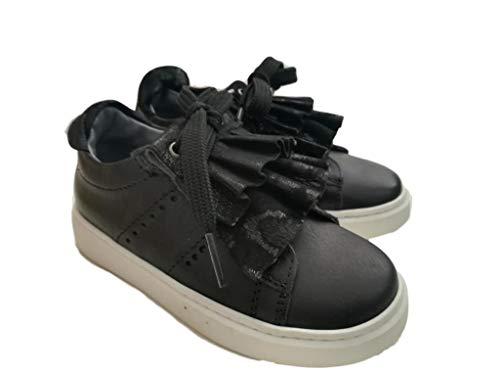 Andrea Morelli - Zapatillas de Cuero para niña Negro Negro 25 EU Negro Size: 25 EU