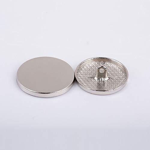 Linka 1 Lote = 10 Piezas Metal Dorado Negro Plano Circular Plano Abrigo de Lana Rompevientos Traje Botones artesanía Ropa de Trabajo Hecho a Mano