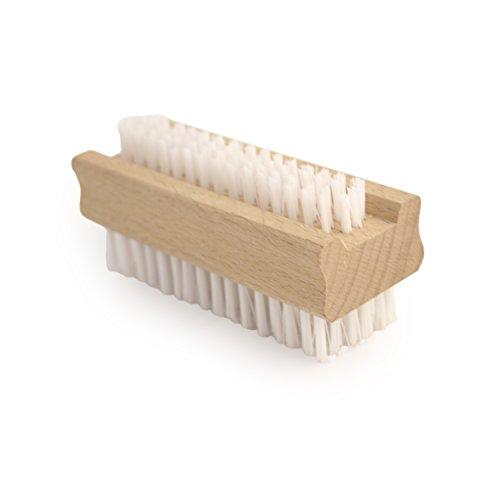 Brosse à ongles double face en bois
