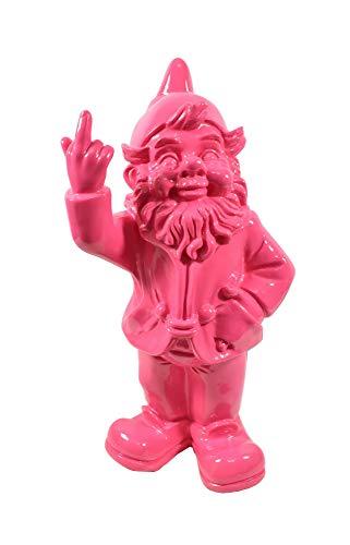 KLP Gartenzwerg Stinkefinger Zwerg Gnom Troll Wichtel Deko Garten Figur Skulptur