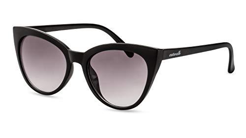 CATWALK Cateye Sonnenbrille/Retro Damen-Sonnenbrille im 50s Design/Verlaufsglas Grau F2508230