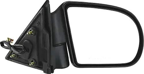 Parts Train 99-04 Chevy Chevrolet Blazer S10 s-10 Mirror RH (Passenger Side) SUV, Power, Heated, W/O Dimmer, Black, Textured (1999 99 2000 00 2001 01 2002 02 2003 03 2004 04) GM49ER 15024360