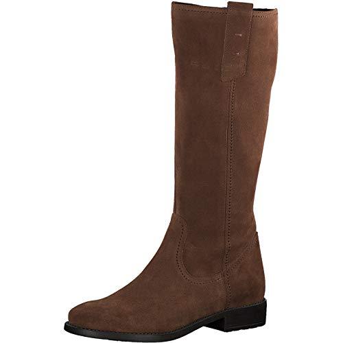 Tamaris Damen Stiefel 25729-33, Women Woman Freizeit leger Boots lederstiefel langschaftstiefel reißverschluss Damen Frauen,Cognac,39 EU / 5.5 UK