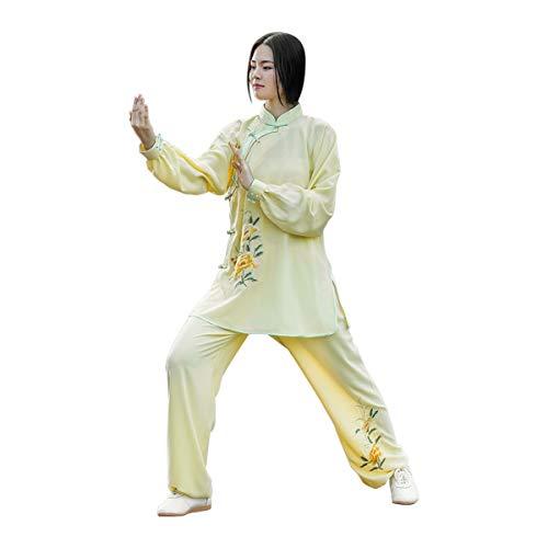 KSUA Traje de Tai Chi para Mujer Traje de Artes Marciales de Gasa Ropa de Kung Fu Chino Ropa de...