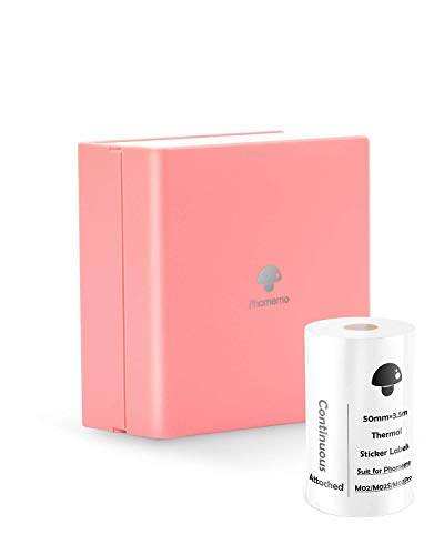 Phomemo Portable Printer - M02 Small Bluetooth Thermal Printer, Compatible with iOS & Android, Mini Paper Printer for Working Listing, Study Notes, Travel Journal, Creative Gift for You - Lucky Pink