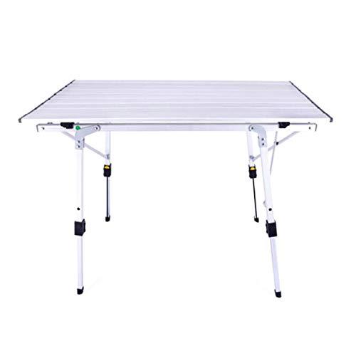 Outdoor Camping Tisch Aluminium Klapptisch Tragbare Roller Tisch Outdoor Grill Tisch Geeignet Für Selbstfahrende Grill Garten Angeln 90 * 53 * 45 Cm, Multi-Color Optional ( Farbe : Weiß )
