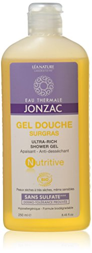 EAU THERMALE JONZAC Gel Douche Bio Surgras Nutritive 250 ml - Lot de 2
