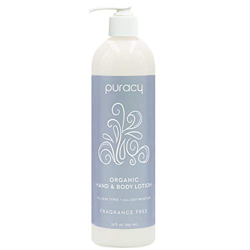 Puracy Organic Hand & Body Lotion, Fragrance Free Unscented Natural Moisturizer, 12 Ounce